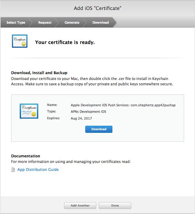DownloadCertificate